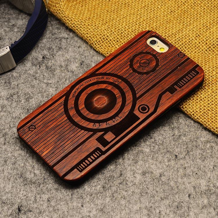U & i marka cienki luksusowe natural wood telefon case for iphone 5 5s 6 6 s 6 plus 6 s plus 7 7 plus pokrywa drewniane wysokiej jakości, odporna na wstrząsy 16