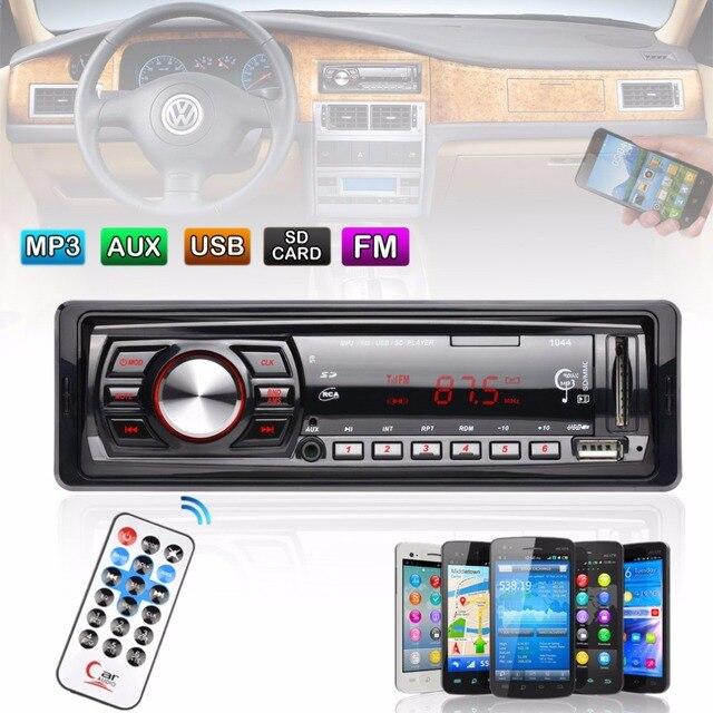 ID3 дисплей В Тире FM Автомобиля Вход Приемника Стерео 50 Вт х 4 ЖК-Дисплей SD USB MP3 WMA радио-Плеер