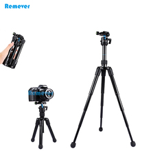 High quality Mini Extendable professional Tripod with Adjust ball head horizontally 360 degree mount base for DSLR Camera Canon