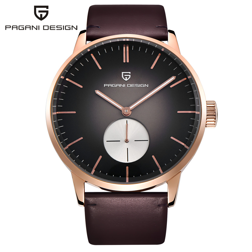 купить PAGANI DESIGN Watches Men Luxury Brand Casual Quartz Watch Business Wrist Watch Genuine Leather Male Clock Relogio Masculino по цене 3386.28 рублей