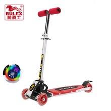 Bulex skuter dla dzieci z 4 Flash koło poliuretanowe fold dziecko dzieci śliskie samochód wysyłka skuter trottinette dla dzieci
