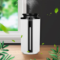 USB Air Humidifier 900ML Ultrasonic Humidifier Car Aroma Diffuser Air Purifier Colorful Light Essential Oil Diffuser Hydrating|Humidifiers| |  -