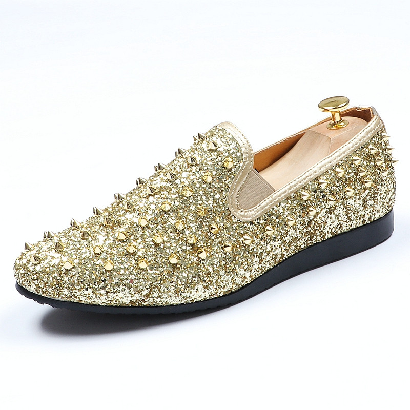 look for buying now wholesale Best Discount #6a67 - Hot New Popular Men's Glitter Studded Rivet ...