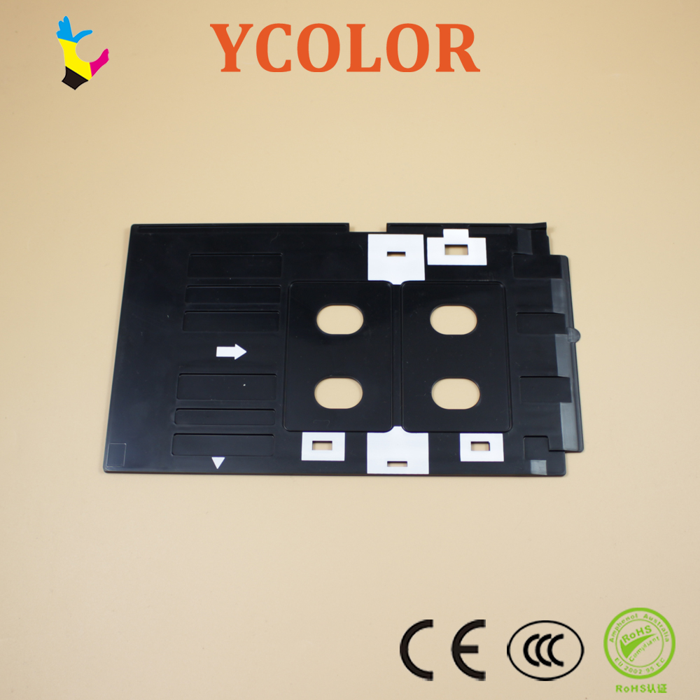 Printer Parts Pvc Id Card Printing Tray For Epson R260 R265 R270 R280 R290 R380 R390 Rx680 T50 T60 A50 P50 L800 L801 R330 Printer Supplies Fast Shipping