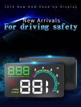 D3000HUD Head-up Display General Purpose For On-board Projector Display cay styling dropshipping(China)
