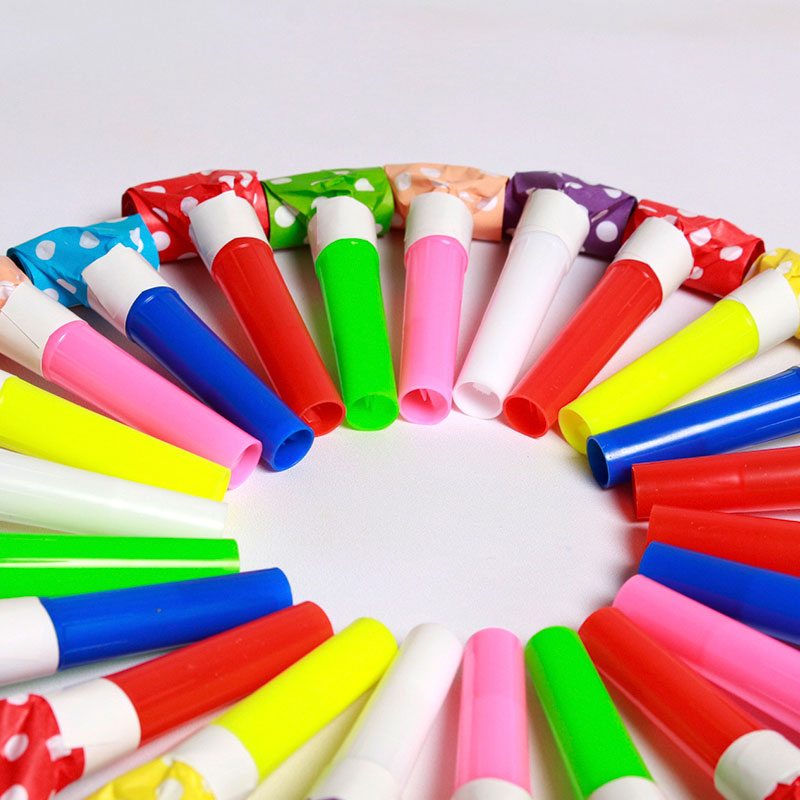 100 Pcs Children's Toy Whistle Birthday Party Cheering Props Blowing Volume Plastic Tube Whistle Children's Toy Whistle