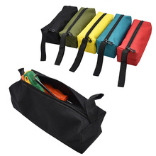Electrician Oxford Canvas Waterproof Storage Utility Bag Repair Hand Tool Bag Metal Screws Drill Bit Holder Organizer Pouch Case