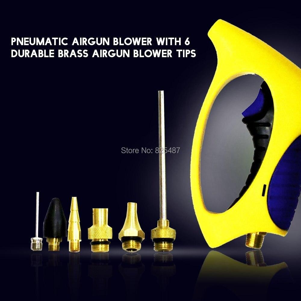 LEMATEC Extend Nozzle Air Blow Gun Ergonomic Compressor Duster Dust Gun Pneumatic Tools Hand Spray Gun Pressure Cleaning Tools