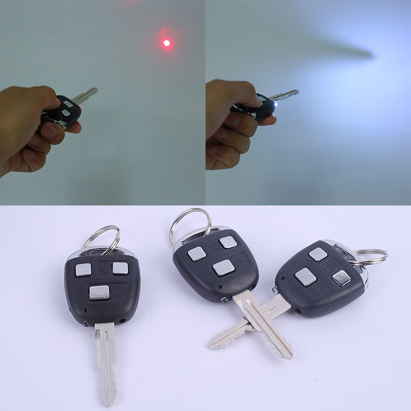 Novelty Electric Shock Car Key With Laser Halloween Prank Joke Trick Toys Gift