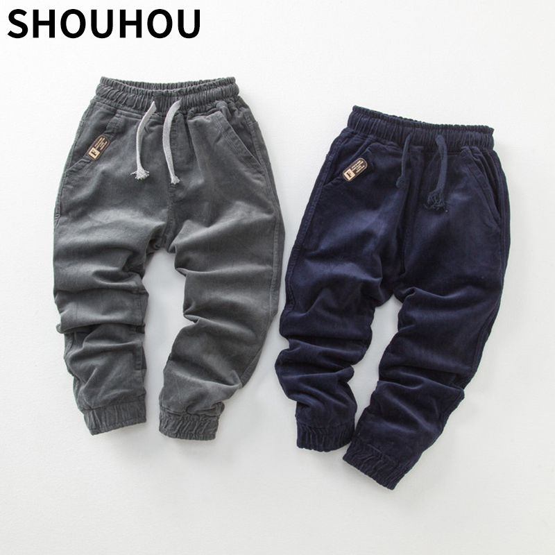 Mutter & Kinder Shouhou 2018 Neue Ankunft Mädchen Herbst Winter Cord Hosen Mode Kinder Elastische Taille Hose Kinder Casual Hosen