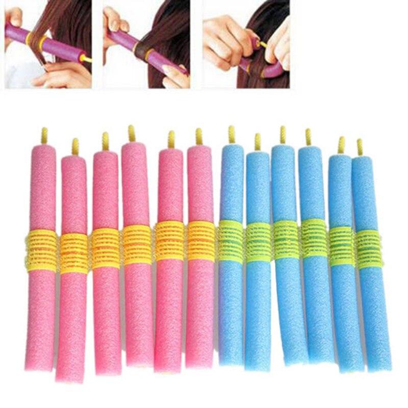 12Pcs/Lot Soft Foam Hair Curler Roller Bendy Rollers DIY Magic Sleeping Hair Curlers Styling Rollers Sponge Hair Curling Tool 3