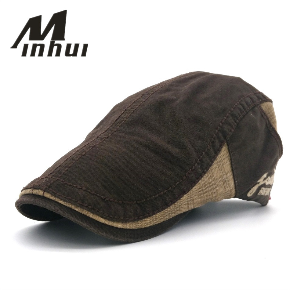 Minhui 2016 New Fashion Beret Spring Summer Traveling Headwear Vinatge Berets Βαμβακερά καπάκια για άνδρες και γυναίκες