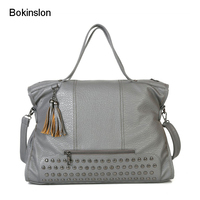 Bokinslon Woman Crossbody Bag PU Leather Personality Women Shoulder Bags Fashion Simple Female Handbags Bags