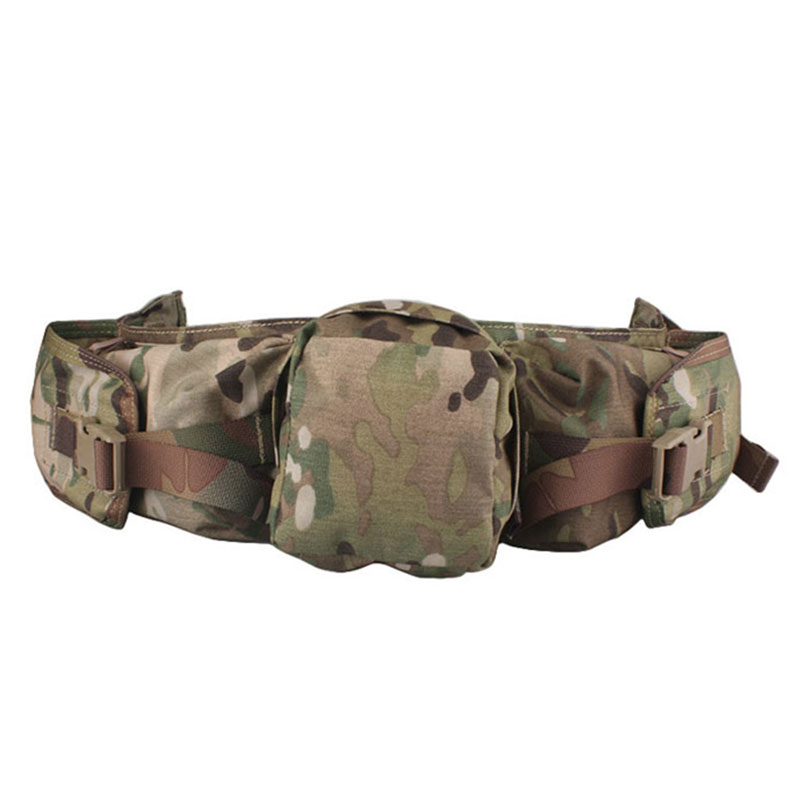 Emersongear Sniper Waist Pack Genuine Multicam Camo A-TACS FG  Solid Color EM5750 Seriers Hunting Airsoft Equipment Gears emerson gear sniper waist pack genuine multicam 500d military tactical waist pack free shipping sku12050410