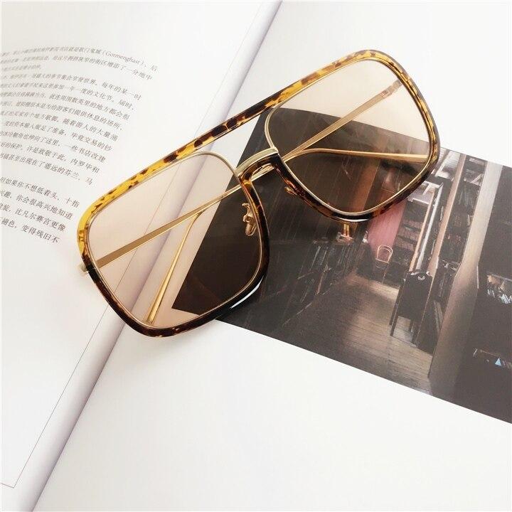 Sunglasses Oversized Square Sunglasses Women Retro 2018 Brand Designer Transparent Eye galsees For Men Ladies Goggles Eyewear in Women 39 s Sunglasses from Apparel Accessories