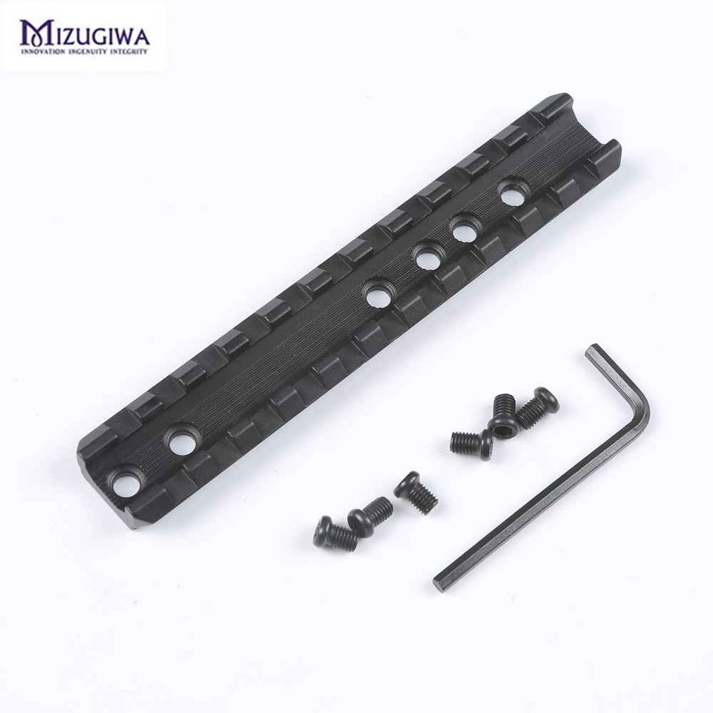 11 Slots 120mm Length Hunting Rifle Scope Mount Rail 20mm Picatinny Rail Hunting Rifle/Air Gun Weaver Flashlight Base Adapter