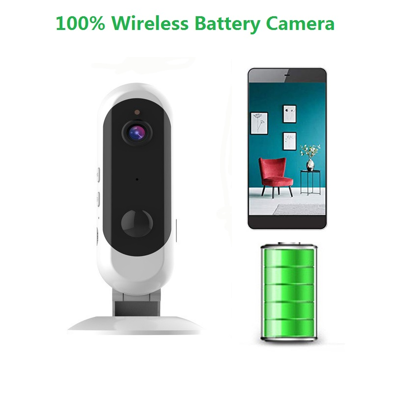 wdskivi Battery HD 1080P Mini IP Camera 100% Wireless WiFi Camera Security Surveillance CCTV Camera Baby Monitor Smart Alarm-in Baby Monitors from Security & Protection    1