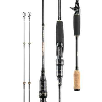 2.1m/2.4m Ultralight Carbon Casting Spinning Fishing Rod Travel Fishing Rod With 2 tips - DISCOUNT ITEM  30% OFF All Category