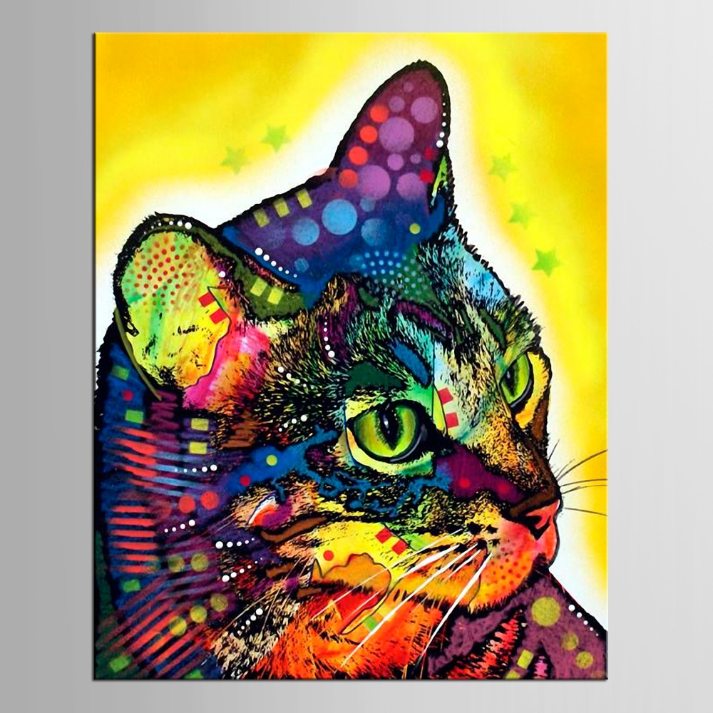 1 panel oil painting paint for home decor canvas Graffiti Kitty Wall Decor