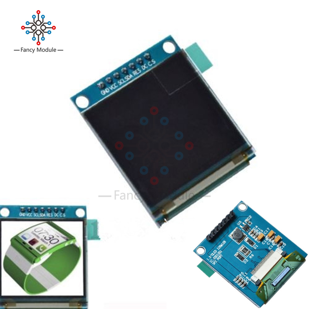 1.5 Inch <font><b>128x128</b></font> SPI <font><b>OLED</b></font> LCD <font><b>Display</b></font> Full Color <font><b>Oled</b></font> Module Driver IC SSD135 for Arduino image