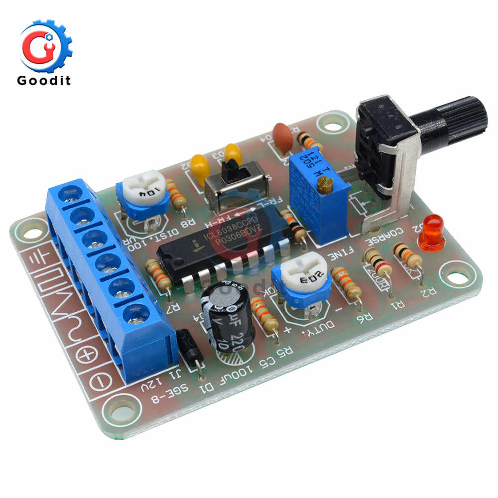 1 Set ICL8038 Monolithic Function Signal Generator Module Sine Square Triangle Welded DIY Kit Sine Square Triangle