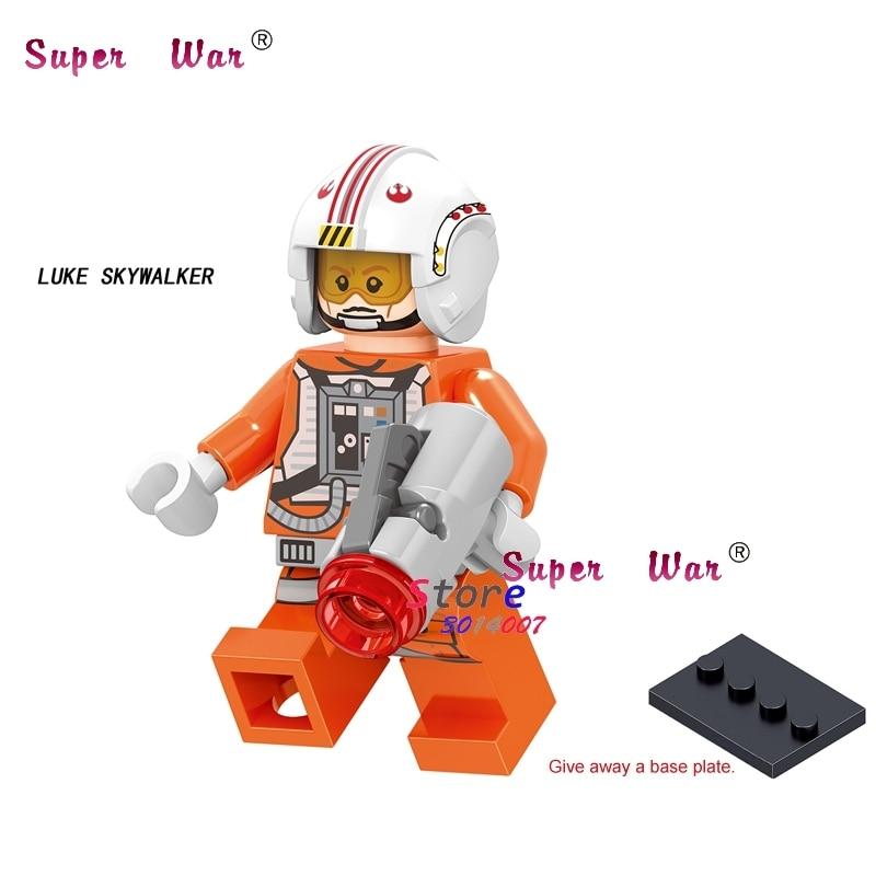 1PCS Model Building Blocks Action   Superheroes The Force Awakens Luke Skywalker Pilot Diy Toys For Children Gift