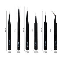 Qiao Excellent Quality Tweezers Bend+Straight New Stainless Steel Industrial Anti-static Cross Tweezers Sewing Accessories Tools