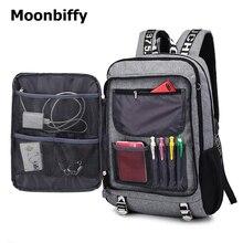 Купить с кэшбэком new men youth fashion multifunctional oxford casual laptop backpack school usb charge waterproof travel bags male bolsa