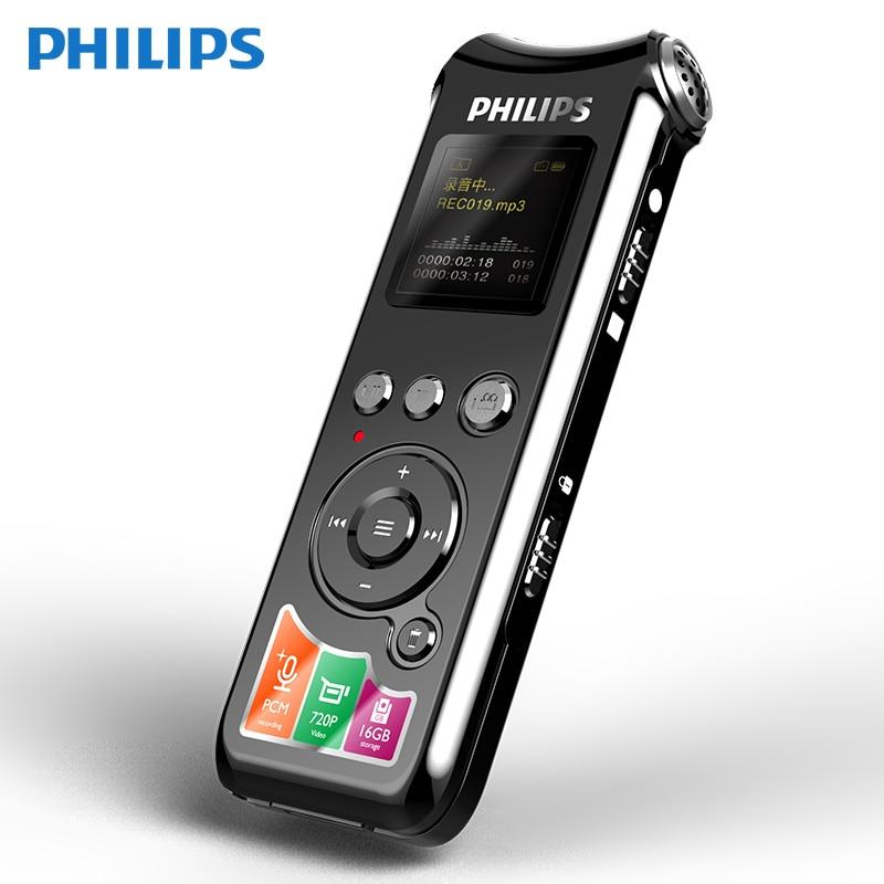 Philips VTR8010 enregistreur vocal numérique professionnel HIFI 720 P Distance vocale claire photographie 16 GB TF Dictaphone-in Enregistreur numérique vocal from Electronique    1