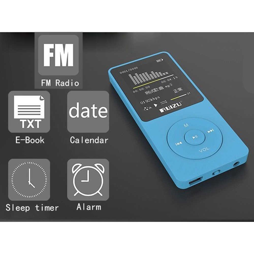 Портативный цифровой спортивный экран rumizu X02 Hifi аудио Mp 3 мини музыкальный mp3-плеер 8 Гб fm-радио с Flac картой ЖК-дисплей работает без потерь