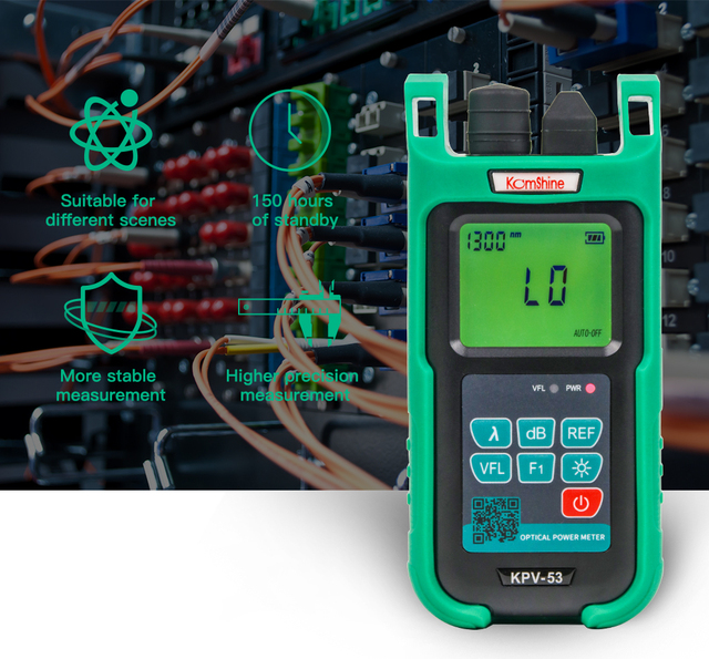 Fiber Optic Power Meter KPV-53 with 10mw VFL Function. Comes with SC UPC Connector