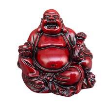 Смола Смеющийся Будда Статуэтка фэншуй статуя Будды Майтрейи ремесло домашнего декора Птица орнамент фигурка