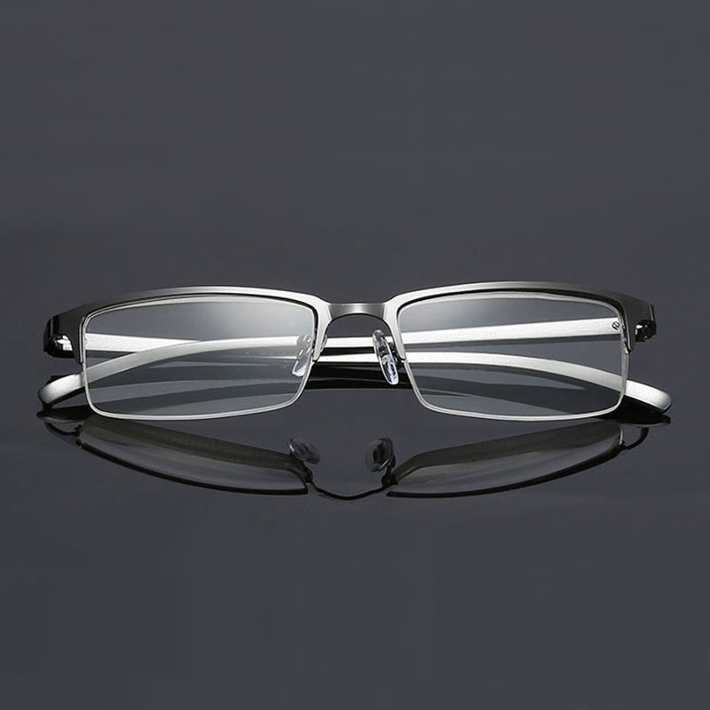 073 Half Rim Optical Alloy Eyeglasses Metal Men Eyeglasses Non Spherical Unisex Reading Glasses+1.0 +1.5 +2.0 +2.5 +3.0 +3.5+4.0