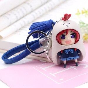 Image 5 - Kawaii Love Live Keychain Minami Kotori Kousaka Honoka Maki Nishikino Cos Himouto! Umaru chan Doma Umaru PVC Figure Pendants Toy