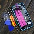 Для iPhone 5c Полный Жилищно Вернуться Батарейного Отсека Обложка + Середина рамка Ассамблея Бесплатный Стикер 5 цветов Бесплатная Доставка С Бесплатным Инструменты