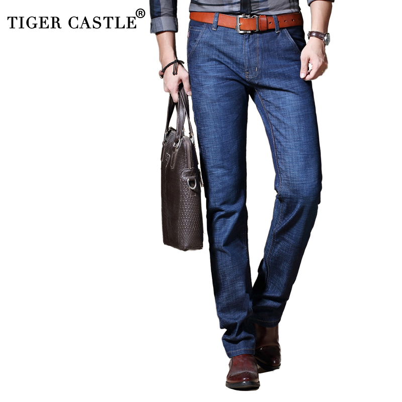 Mens Classic Business   Jeans   2018 Casual Cotton Stretch Male Long Denim Pants Spring Autumn High Quality Regular Fit   Jeans   Men