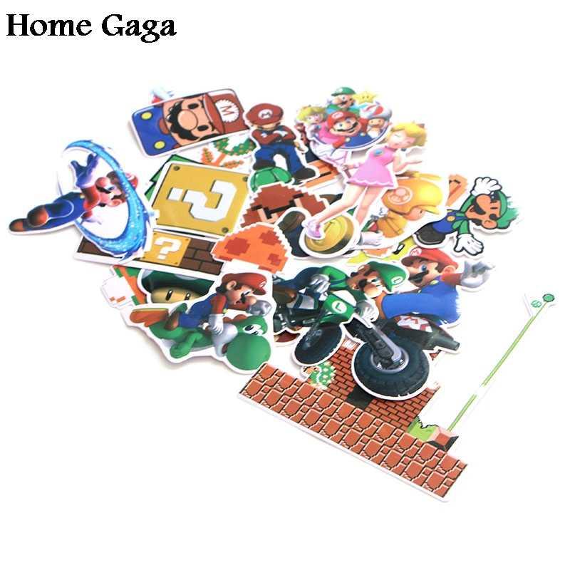 Homegaga 29 шт./компл. Супер Марио ПВХ водонепроницаемый стикер с рисунком из мультфильма для автомобиля багаж телефон ноутбук мото велосипед настенная Гитара diy D1176