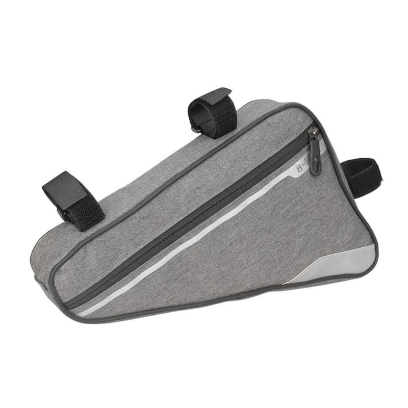 Cycling Frame Bag Outdoor Triangle Bicycle Front Tube Bag Mountain Road Bike Pouch Case Tool Bag MTB Beam Bag Bike Accessories outdoor bike bicycle upper tube bag silver black