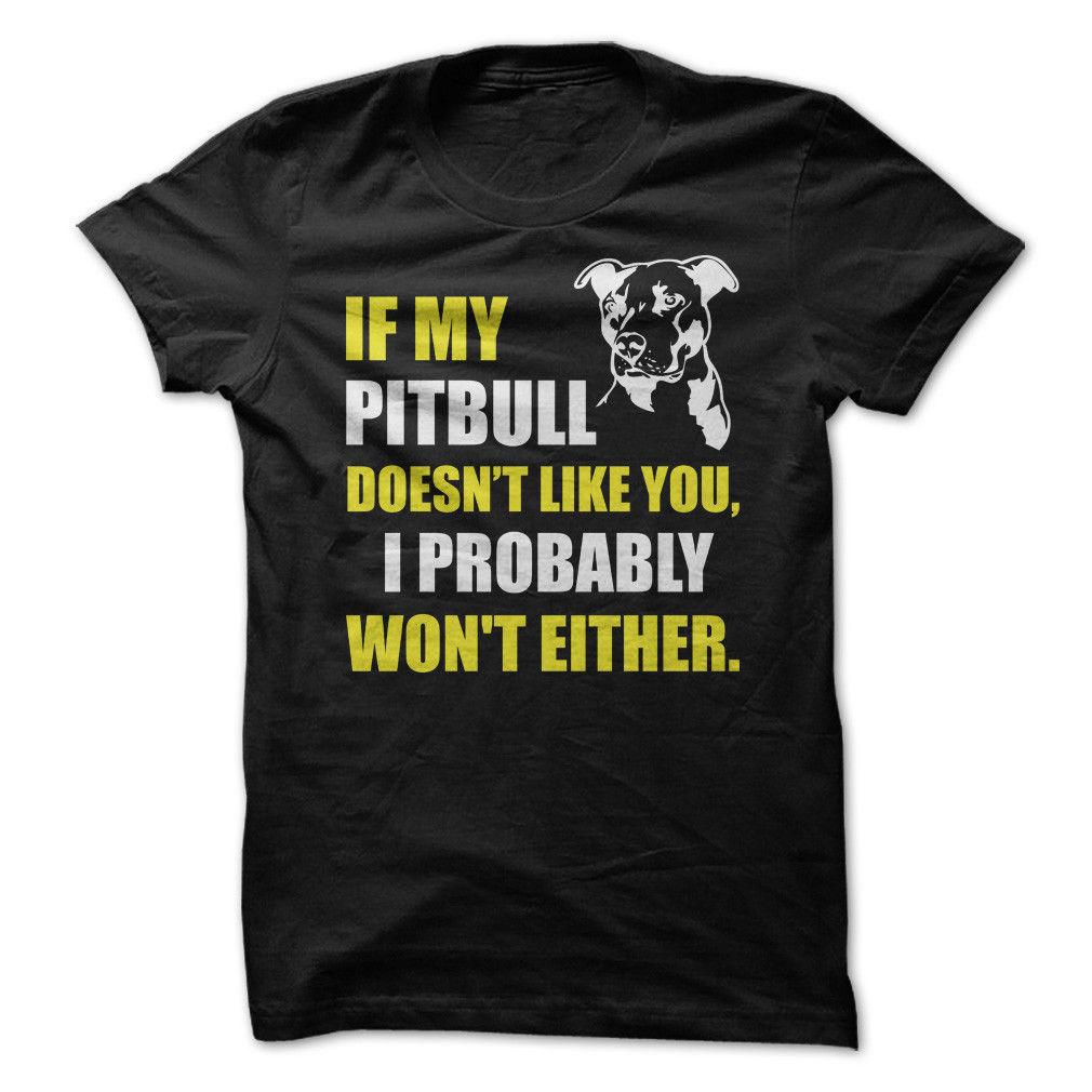 Если мой питбуль не как вы-смешные футболки
