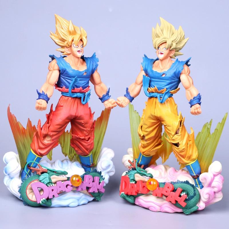 NEW 23cm Dragon Ball Figure Son Goku Figure MSP Super Saiyan The Brush Figure PVC  Dragon Ball Z Action Figure DBZ DragonBall Z