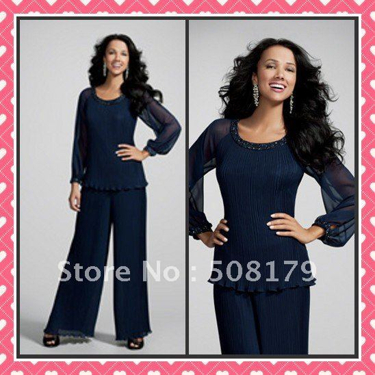 Wholesale - Sizes Available Evening Dress A-line Two Pieces Jewel Chiffon Mother Of The Bridemaid Dresses   BMD018