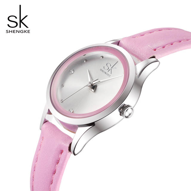 b208745f7 Detail Feedback Questions about Shengke Ladies Watches Small Round Dial  Quartz Watch Women Fashion Leather Watches Reloj Mujer 2019 SK Women's Day  Gift ...