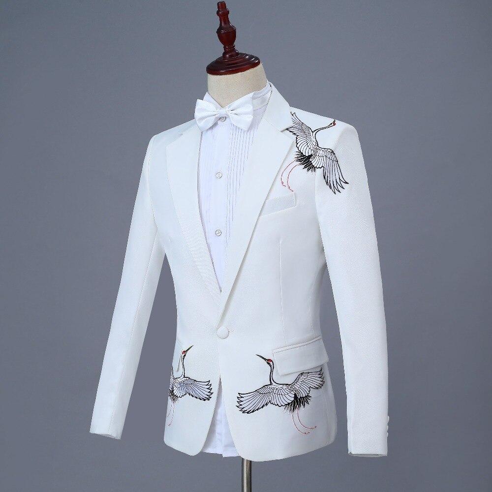 Costume Bal Marié As Robe Homme Pantalon Blanc veste Same Hommes Mâle Paillette Tie Vêtements Bow Mariage Costumes custom Formelle De Made Pic x04qnAwaI