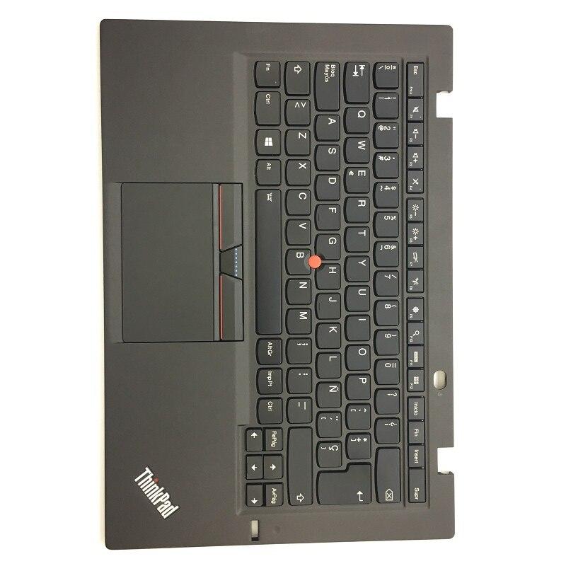 LA ES nouveau/Orig pour Thinkpad X1 carbone 3rd Gen 3 Latin espagnol clavier rétro-éclairé avec Palmrest Touchpad 00HN955 00HT310 SN20G18575
