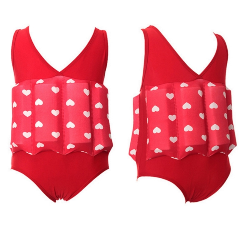 Floating Swimming Suit Detachable Floating Conjoined Training Bathing Suit Infant Boy's and Girls Swimsuit Children Sports Swim