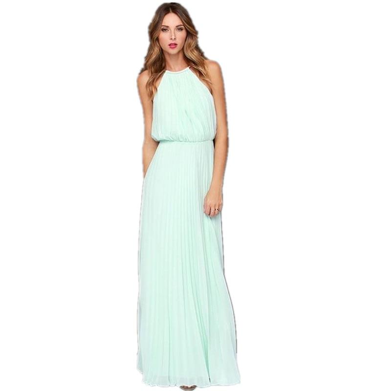 Venta caliente estilo europeo vestido de verano gasa sin mangas - Ropa de mujer - foto 6