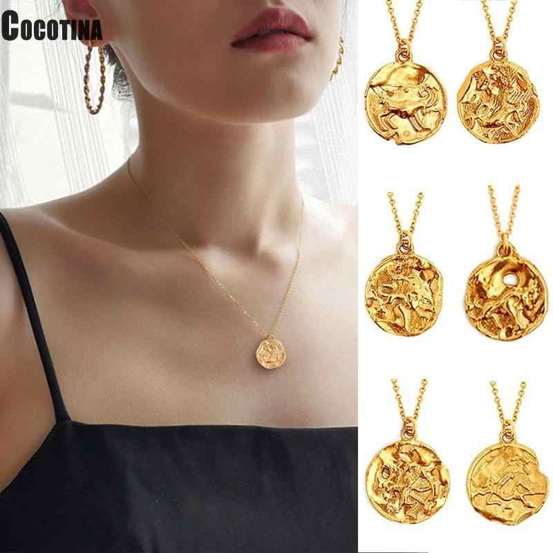 1 PCS Women Necklace 12 Constellation Necklaces Celestial Keepsake Jewelry Virgo Taurus Leo Gemini Bijoux Femme Fashion Necklace