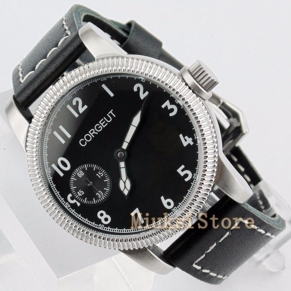 Corgeut 40mm men's watch hand-winding 6497 mechanical watch fashion business watch