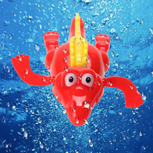 1pc Baby Swim Toy Crocodile Baby Bath Swimming Toy Crocodile Wind Up Clockwork Play Baby Swimming