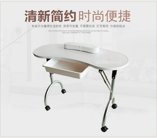 The new nail table manicure set a single nail chair for Folding nail table